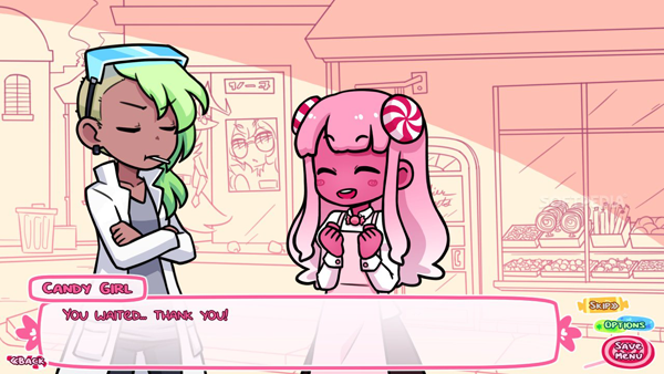 [Syrup and the Ultimate Sweet, from Yuri Game Jam 2015.]