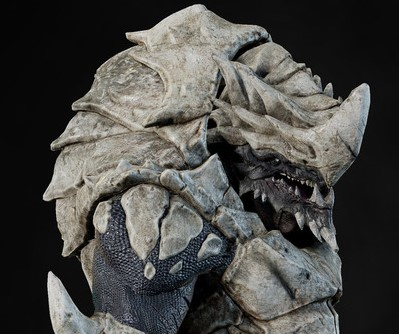 Image of the kett behemoth, a Krogan transformed by genetic manipulation to serve the enemy.