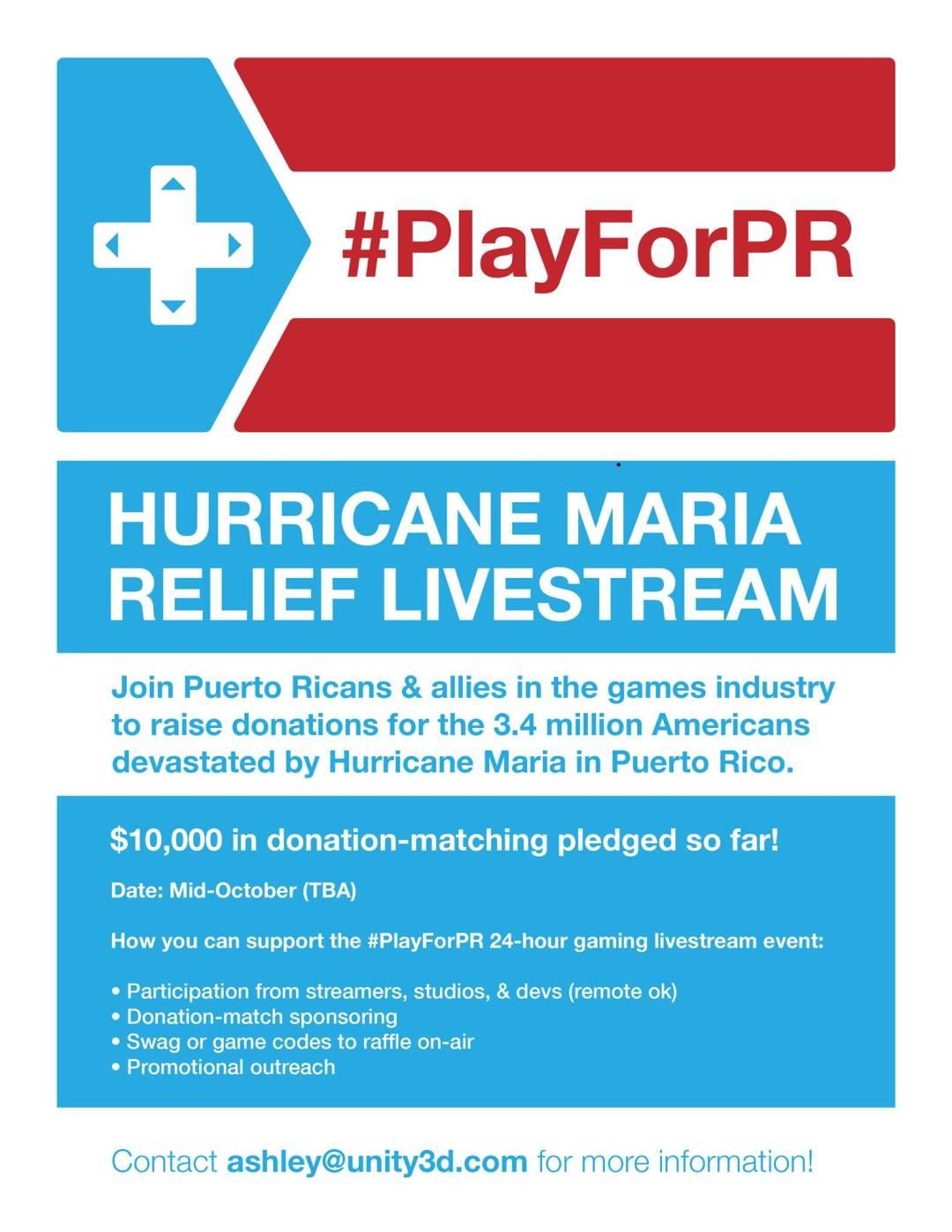 Help Puerto Rico stream